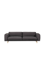 REST 深灰色布艺三坐位沙发
