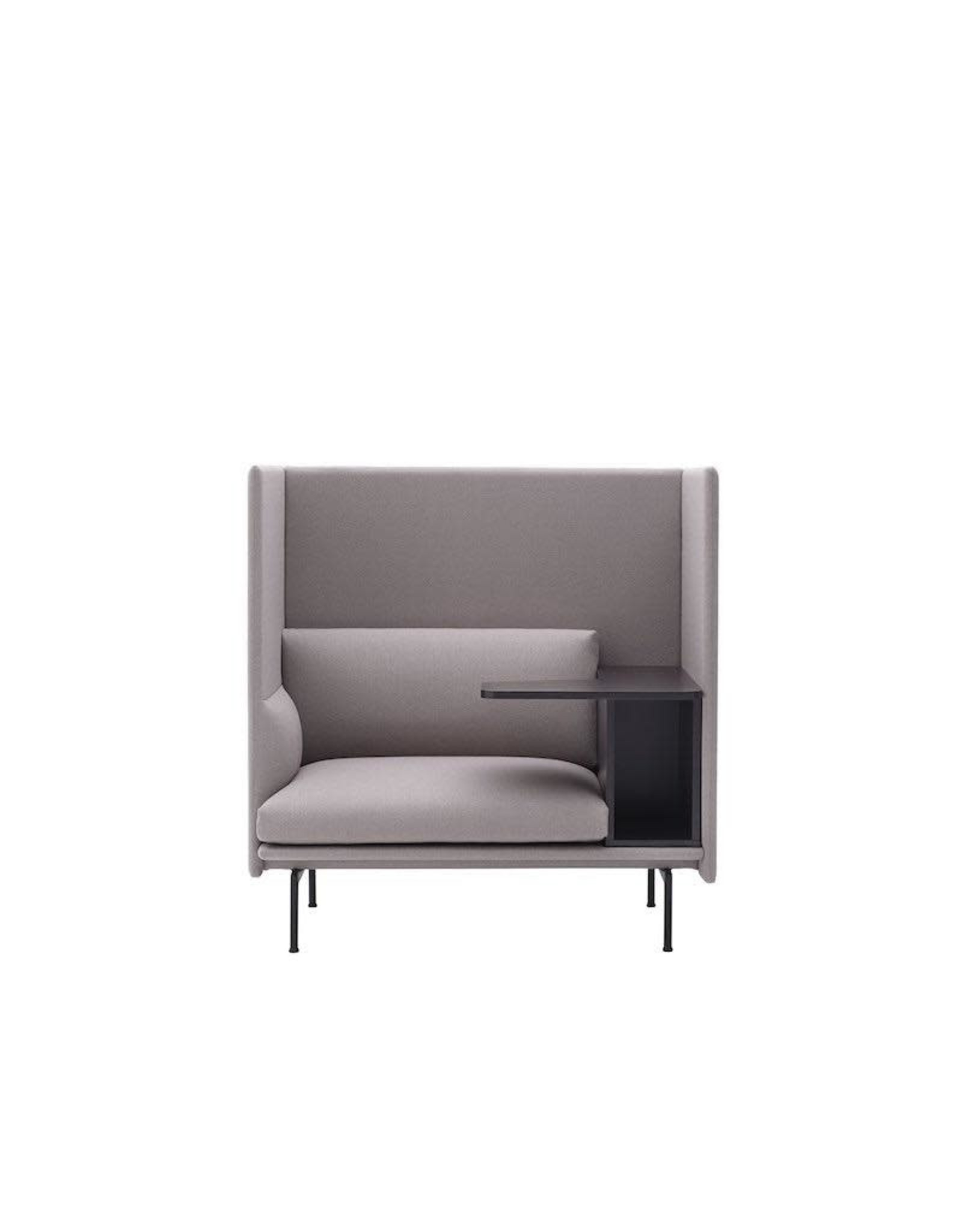 OUTLINE HIGHBACK WORK 1-SEATER RIGHT