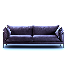 EILERSEN BUTTERFLY SOFA IN BLUE FABRIC