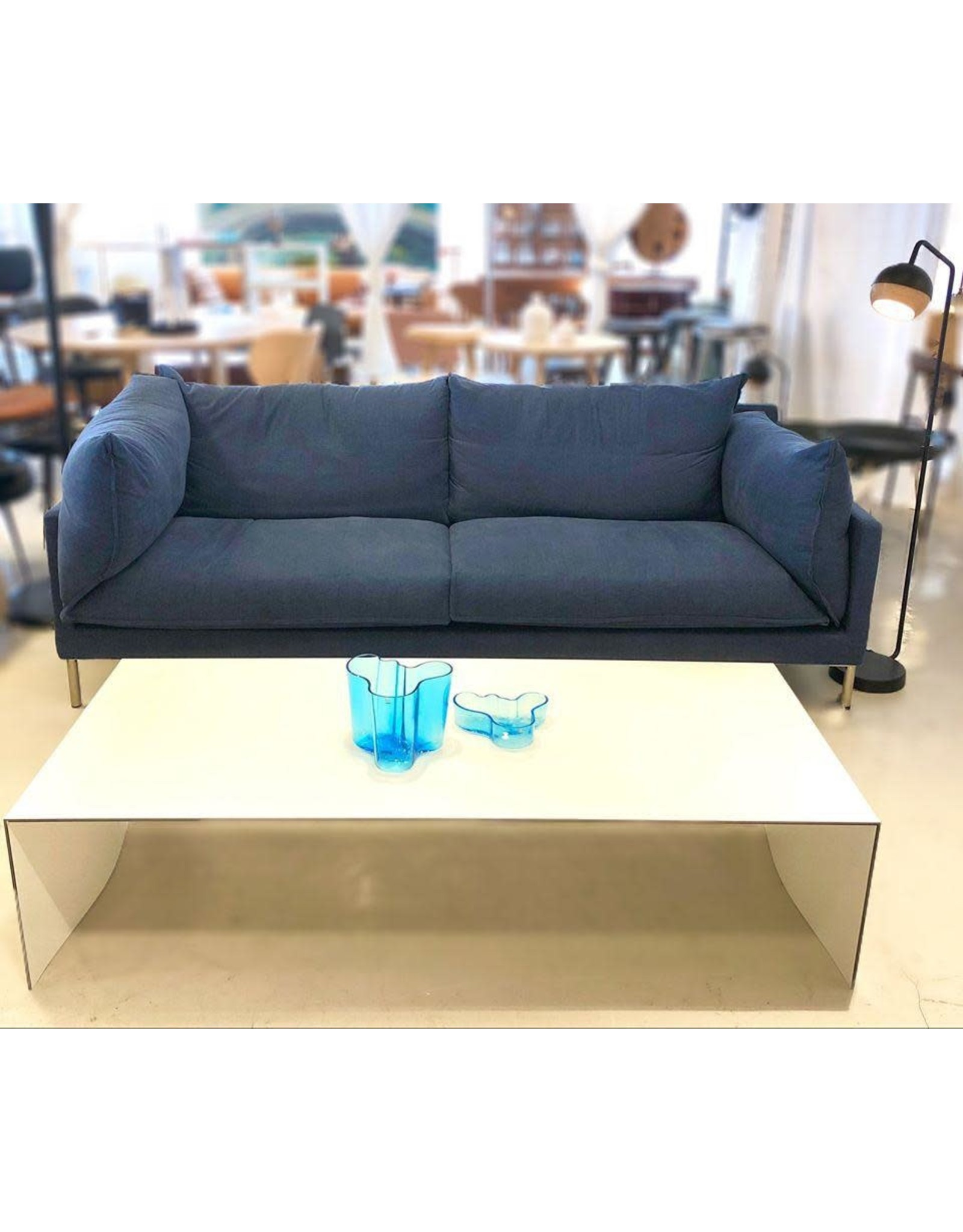 BUTTERFLY 藍色布藝沙發