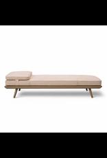 1710 SPINE 白漆橡木框架沙發床