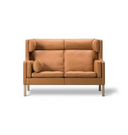 FREDERICIA 2292 MOGENSEN COUPE SOFA IN LEATHER