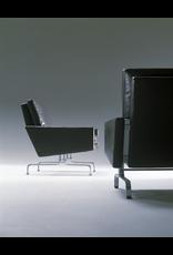 PK31/3 黑色優雅皮革三座位沙發