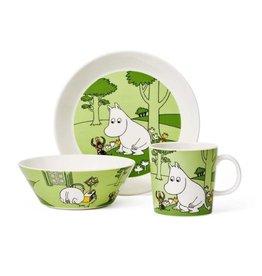 ARABIA MOOMIN TROLL 姆明家族姆明草綠色餐具