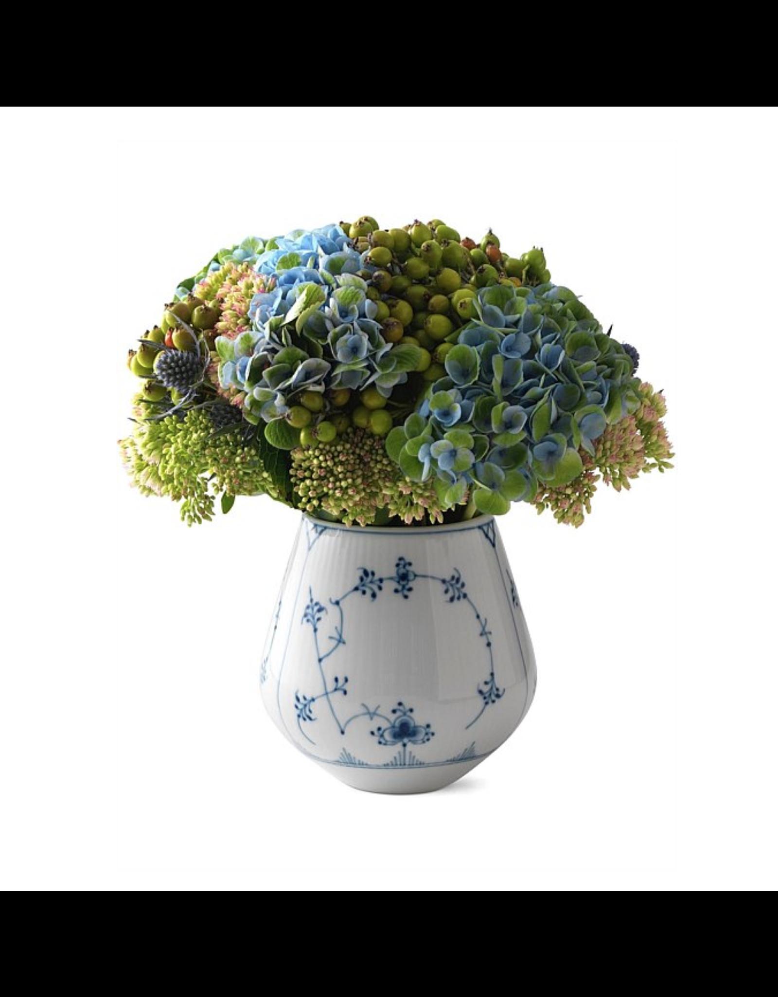 皇家哥本哈根BLUE FLUTE PLAIN藍花紋花瓶