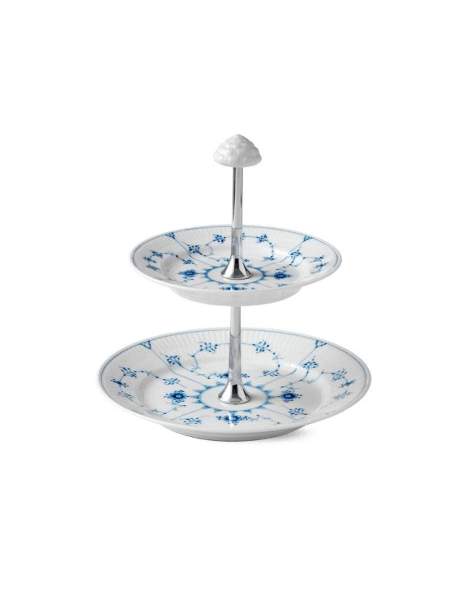 皇家哥本哈根BLUE FLUTE PLAIN兩層糕點架