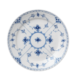 BLUE FLUTED HALF LACE DEEP PLATE