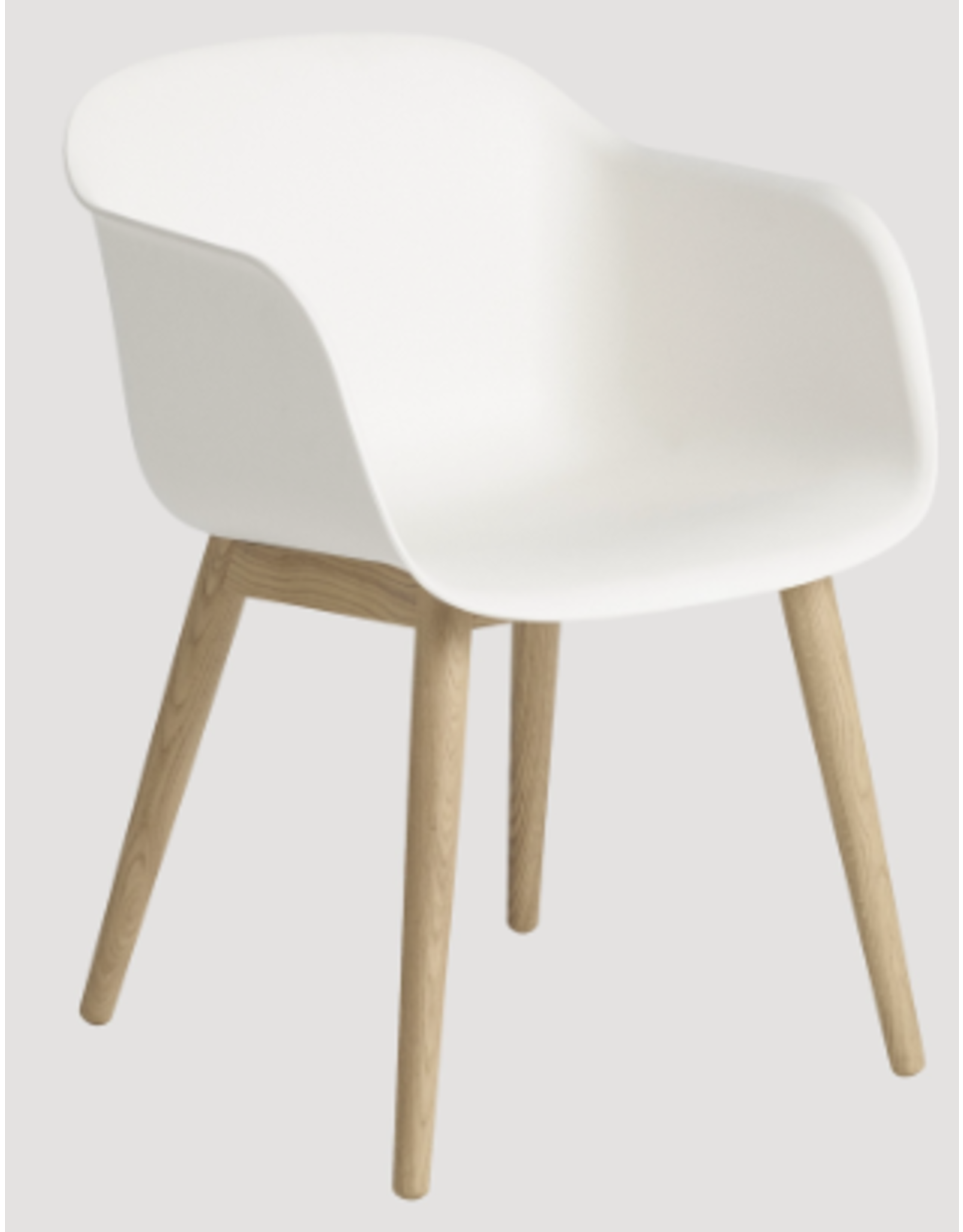 MUUTO FIBER 天然白色纤维扶手椅
