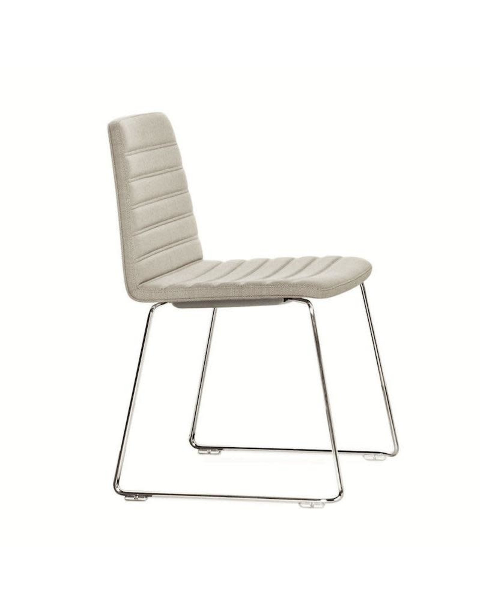 SPINAL CHAIR 44, STACKABLE WITH CHROMED RUNNER LEGS