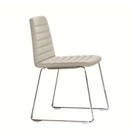 PAUSTIAN SPINAL CHAIR 44, STACKABLE WITH CHROMED RUNNER LEGS