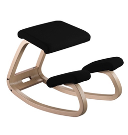 VARIER VARIABLE BALANS 黑色REVIVE布质跪椅