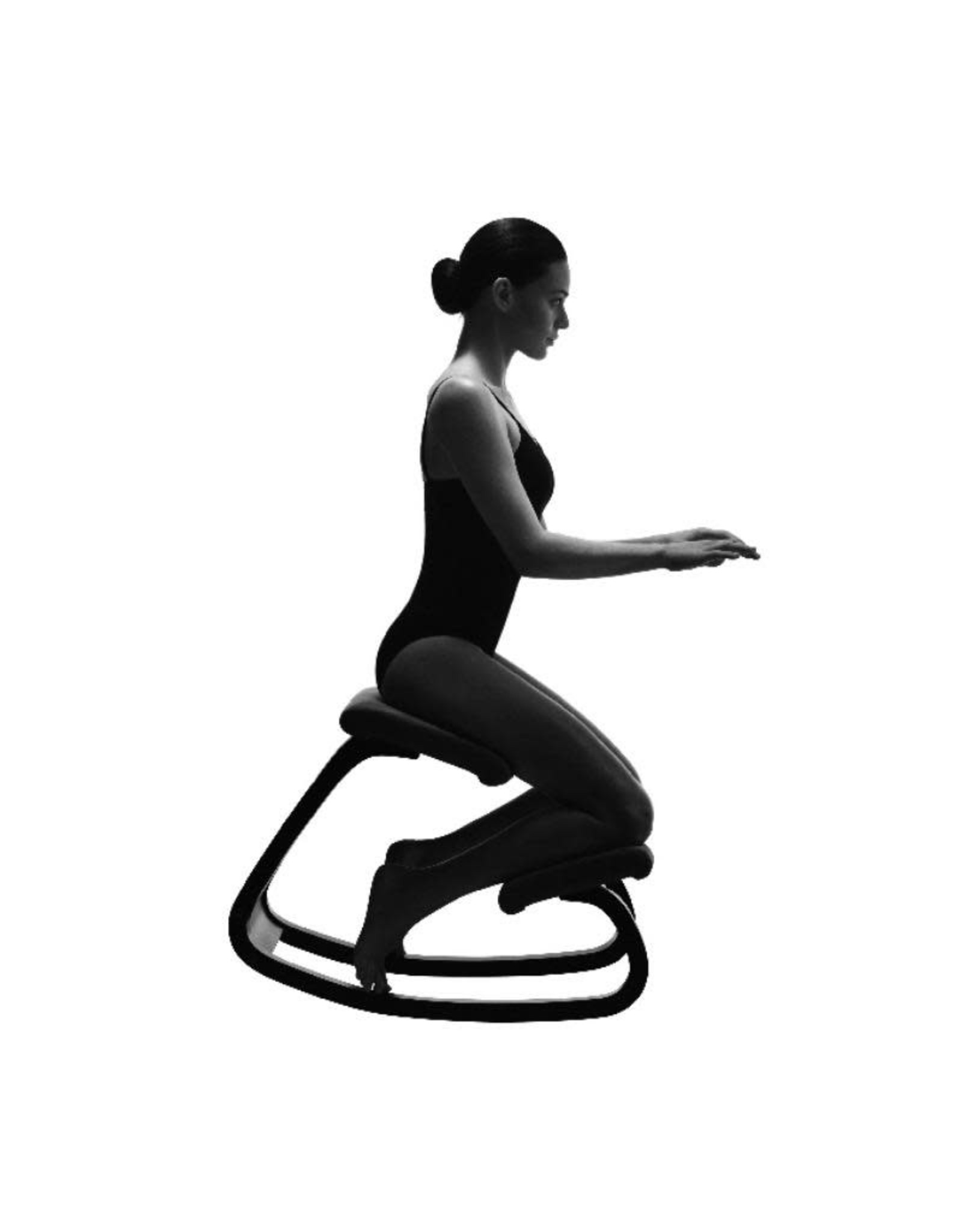 VARIABLE BALANS 黑色REVIVE布质跪椅