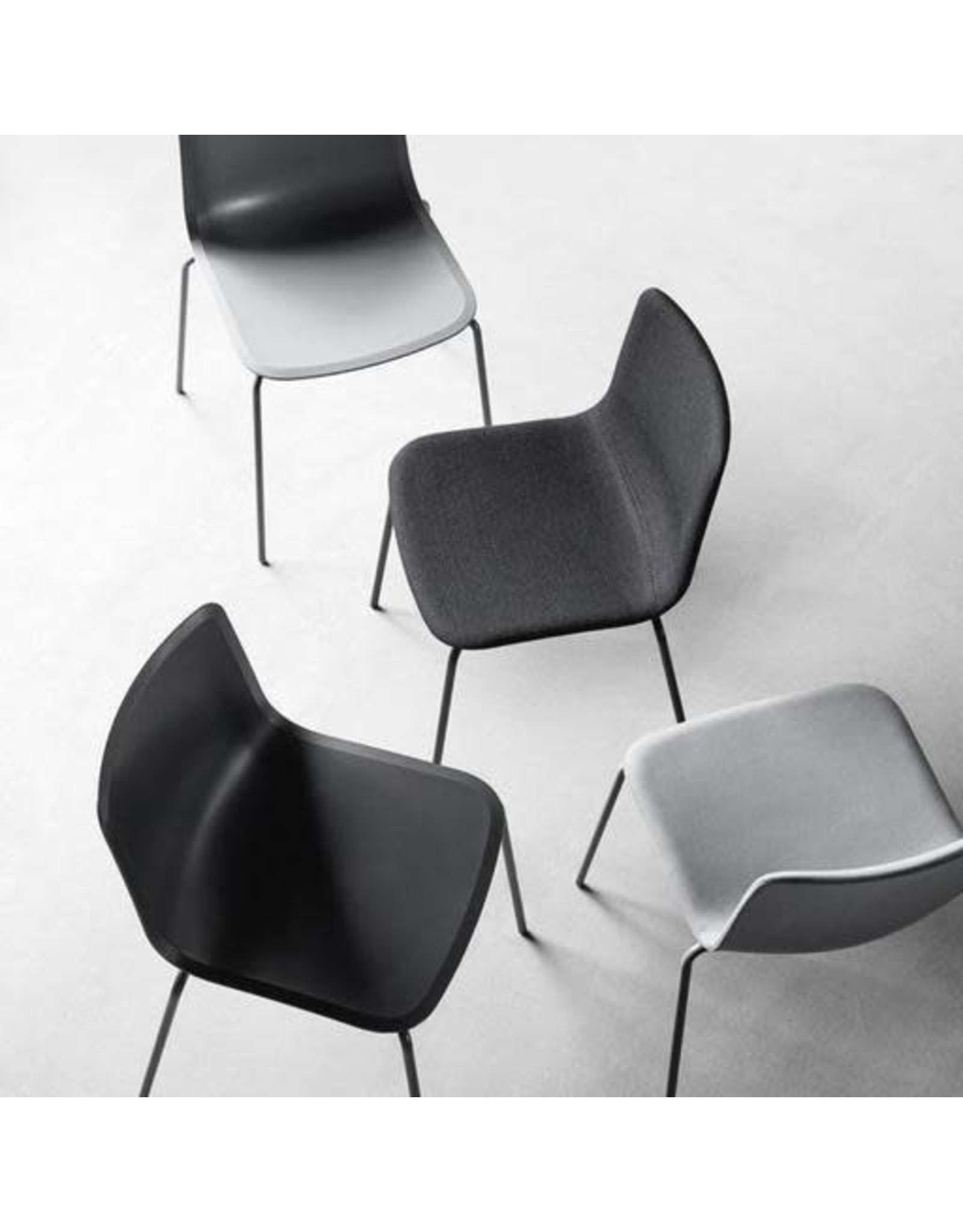 PATO CHAIRS IN STEEL LEGS