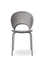 3396 TRINIDAD CHAIR, SEAT UPHOLSTERED IN GREY LEATHER