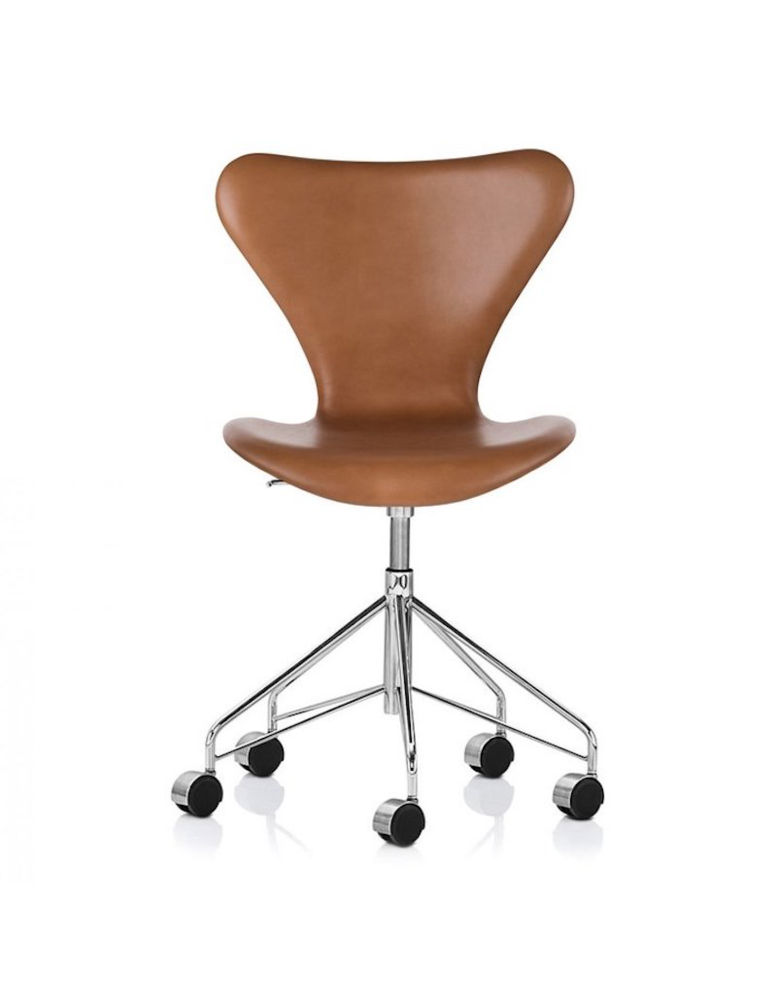 3117 SWIVEL CHAIR IN WILD WALNUT LEATHER & ELM