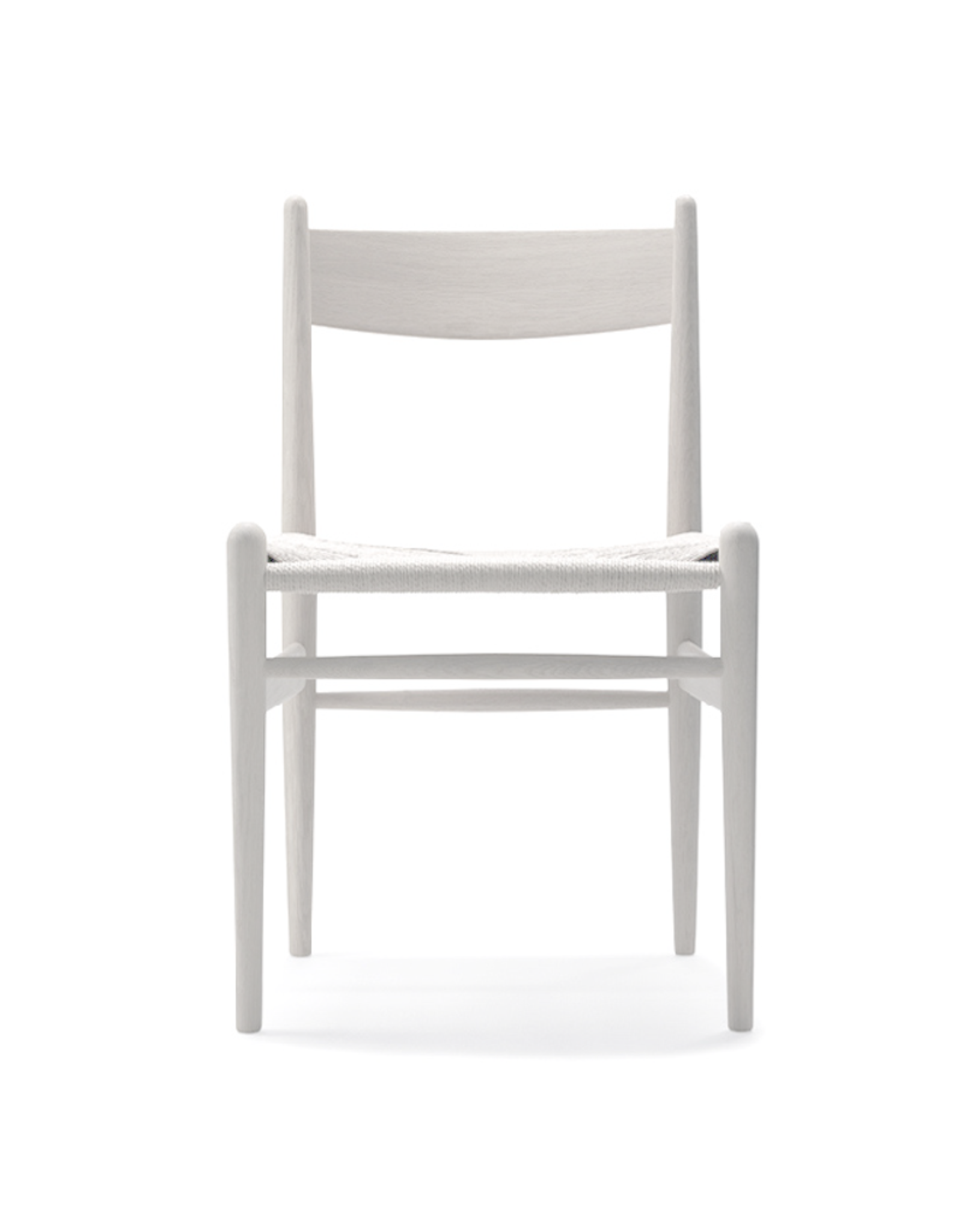 CARL HANSEN & SON CH36 DINING CHAIR IN WHITE LACQUERED BEECH