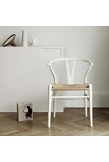 CARL HANSEN & SON CH24 LIMITED, SIGNED SPECIAL-EDITION WISHBONE CHAIR IN SOFT WHITE FINISH