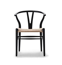 CARL HANSEN & SON CH24 軟黑色飾面叉骨椅