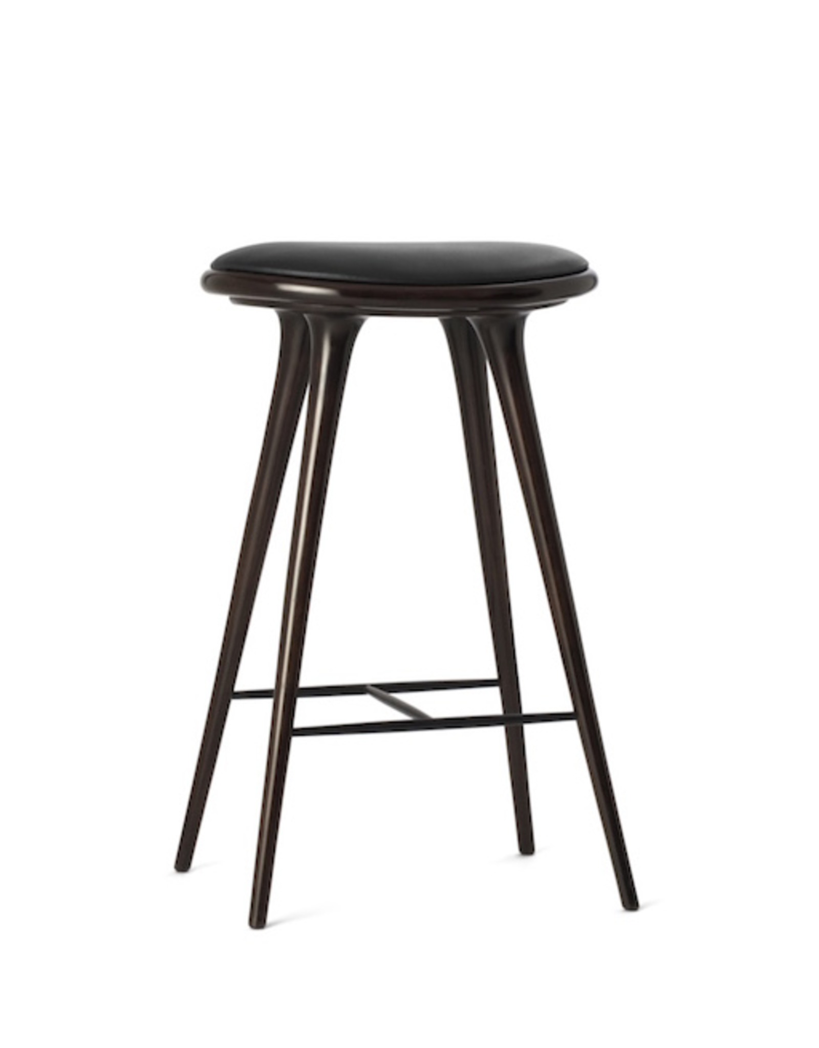 MATER ETHICAL MEDIUM HIGH STOOL, DARK STAINED HARDWOOD