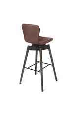 SHELL BARSTOOL IN ULTRA COGNAC LEATHER
