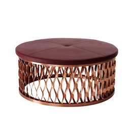 STEELO OTTOMAN EXTRUDED METAL BASE IN COPPER