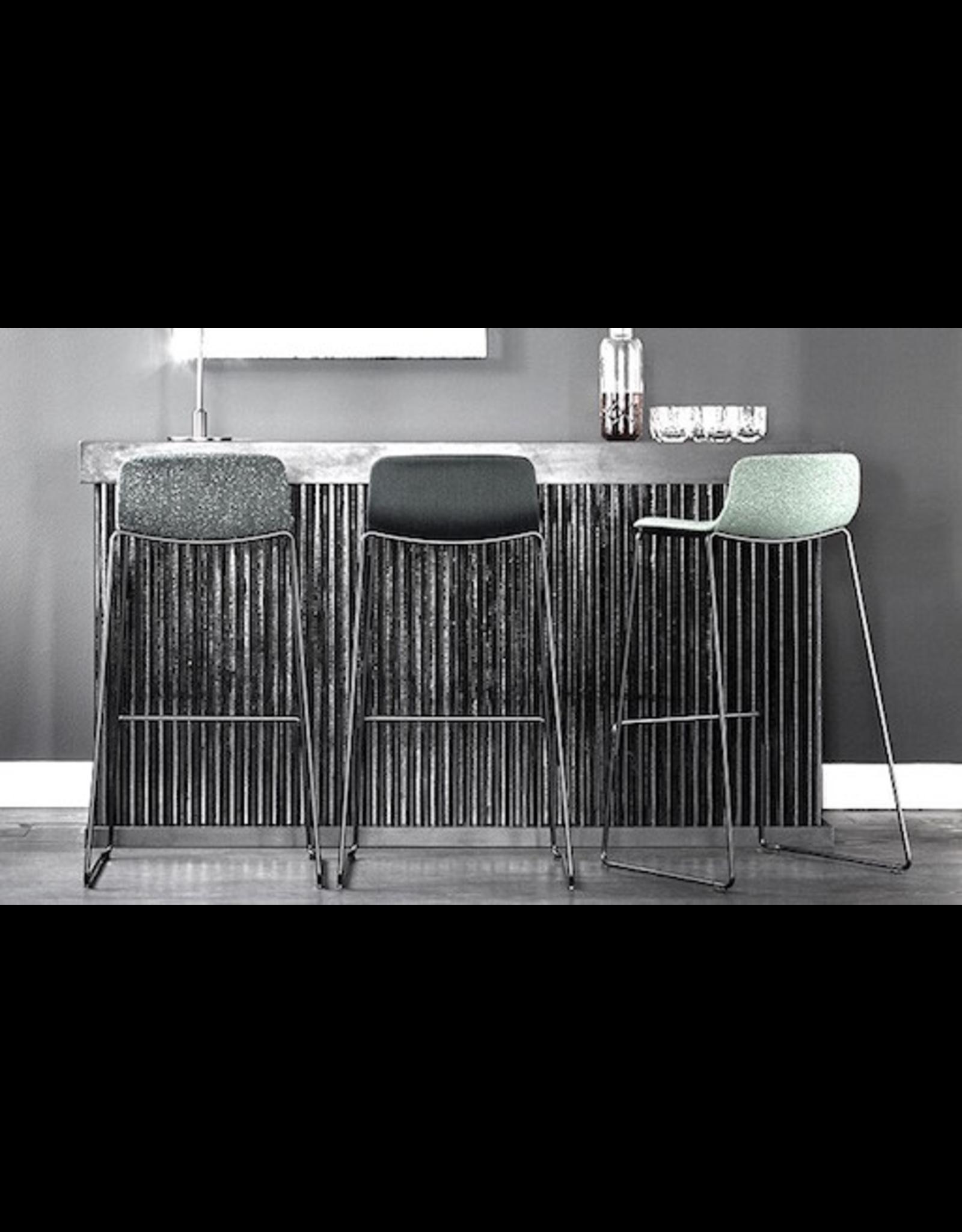 4312 PATO 灰色真皮高凳