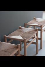 CH53 櫸木藤編踏腳凳