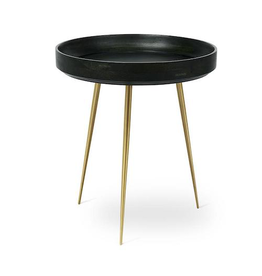 MATER MANGO BOWL TABLE IN NORI GREEN STAINED MANGO WOOD