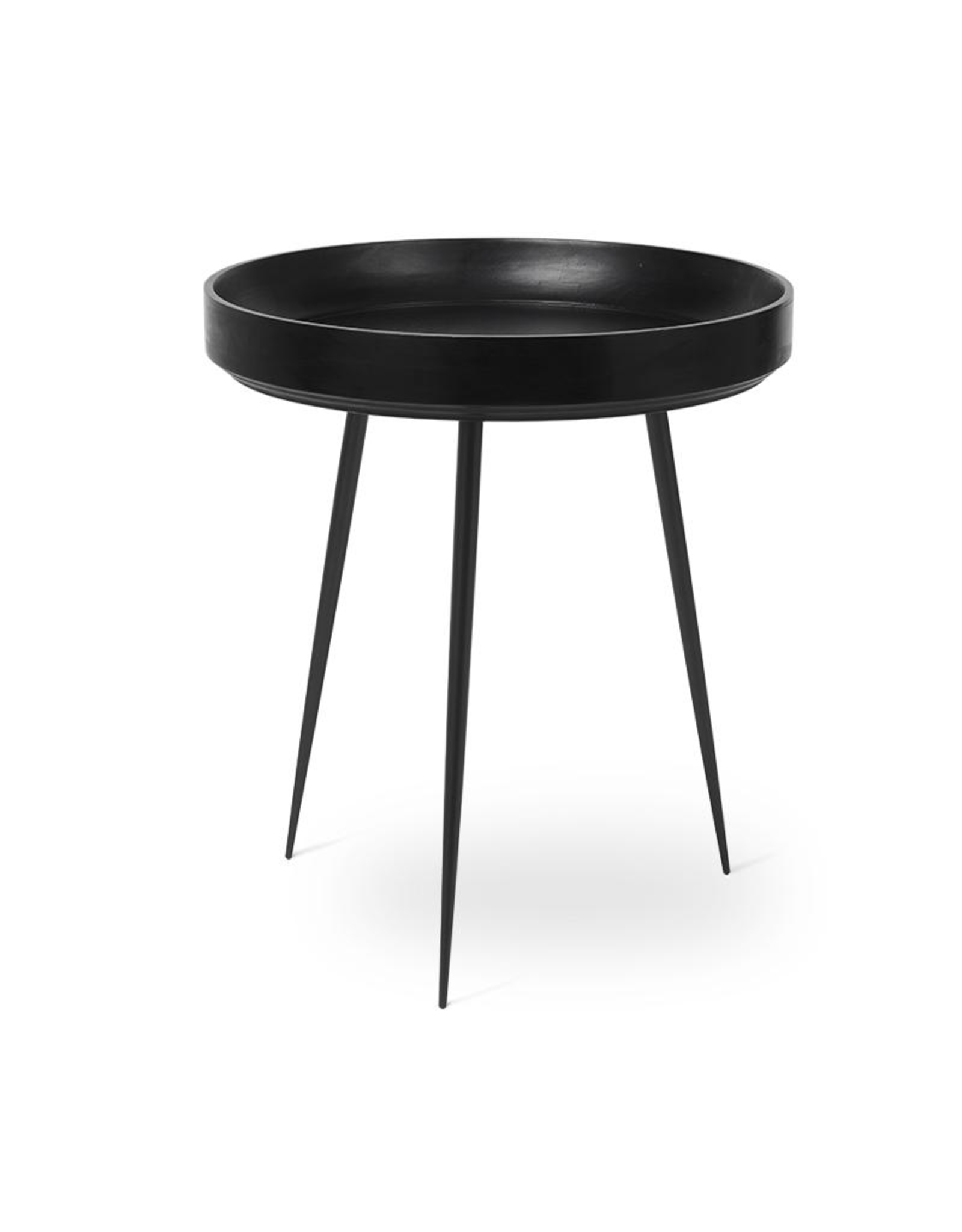 MATER MANGO BOWL TABLE IN BLACK STAIN FINISHED MANGO WOOD