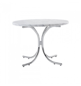 VERPAN MODULAR TABLE, CARRERA MARBLE TOP IN WHITE COLOUR