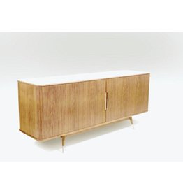 NAVER AK 2732 TV SIDEBOARD IN ELM AND CORIAN TOP