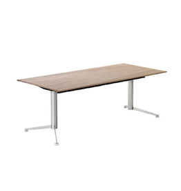 PAUSTIAN SPINAL ELECTRICAL WORK DESK W/OAK VENEER TABLETOP