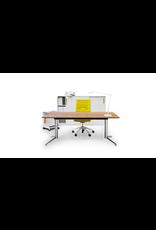 PAUSTIAN SPINAL ELECTRICAL WORK DESK W/OAK VENEER TABLETOP