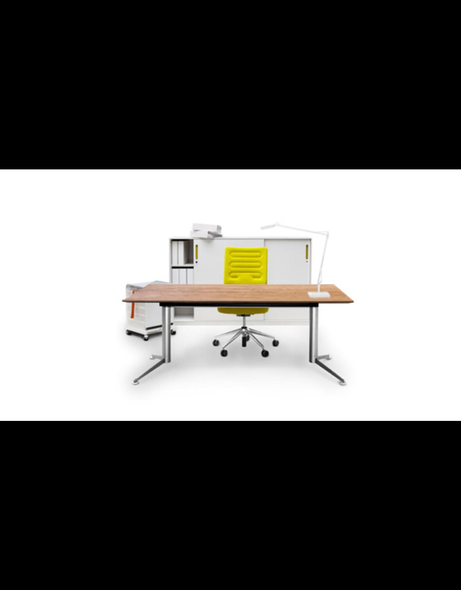 SPINAL ELECTRICAL WORK DESK W/OAK VENEER TABLETOP