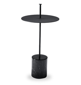 CALIBRE HIGH MARBLE SIDE TABLE WITH HANDLE