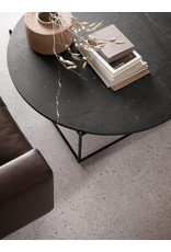 CIRCLE LARGE BLACK COFFEE TABLE