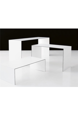 L1500 THINNER COFFEE TABLE IN WHITE LAMINATE