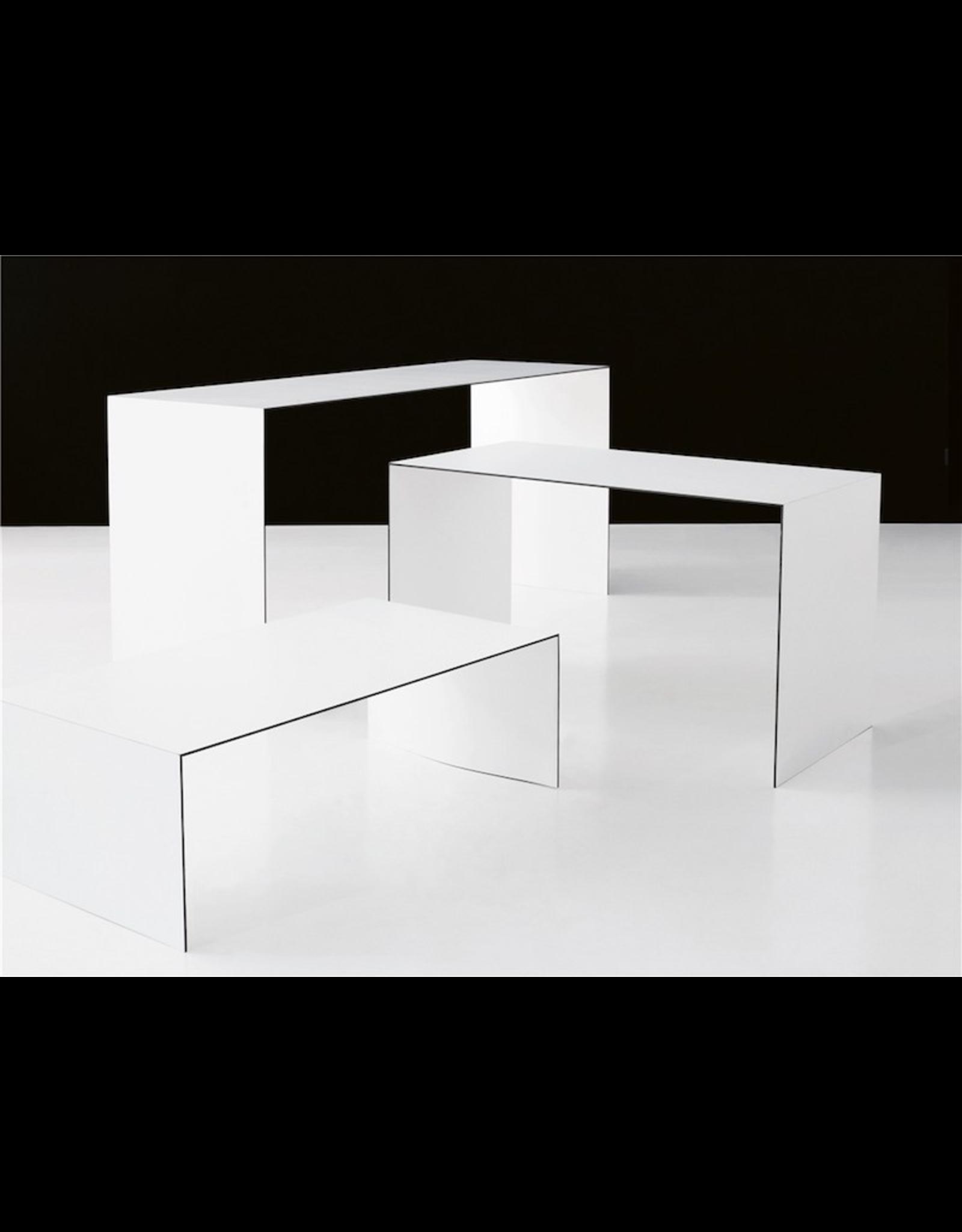 L1500 白色層壓板薄咖啡桌/茶几