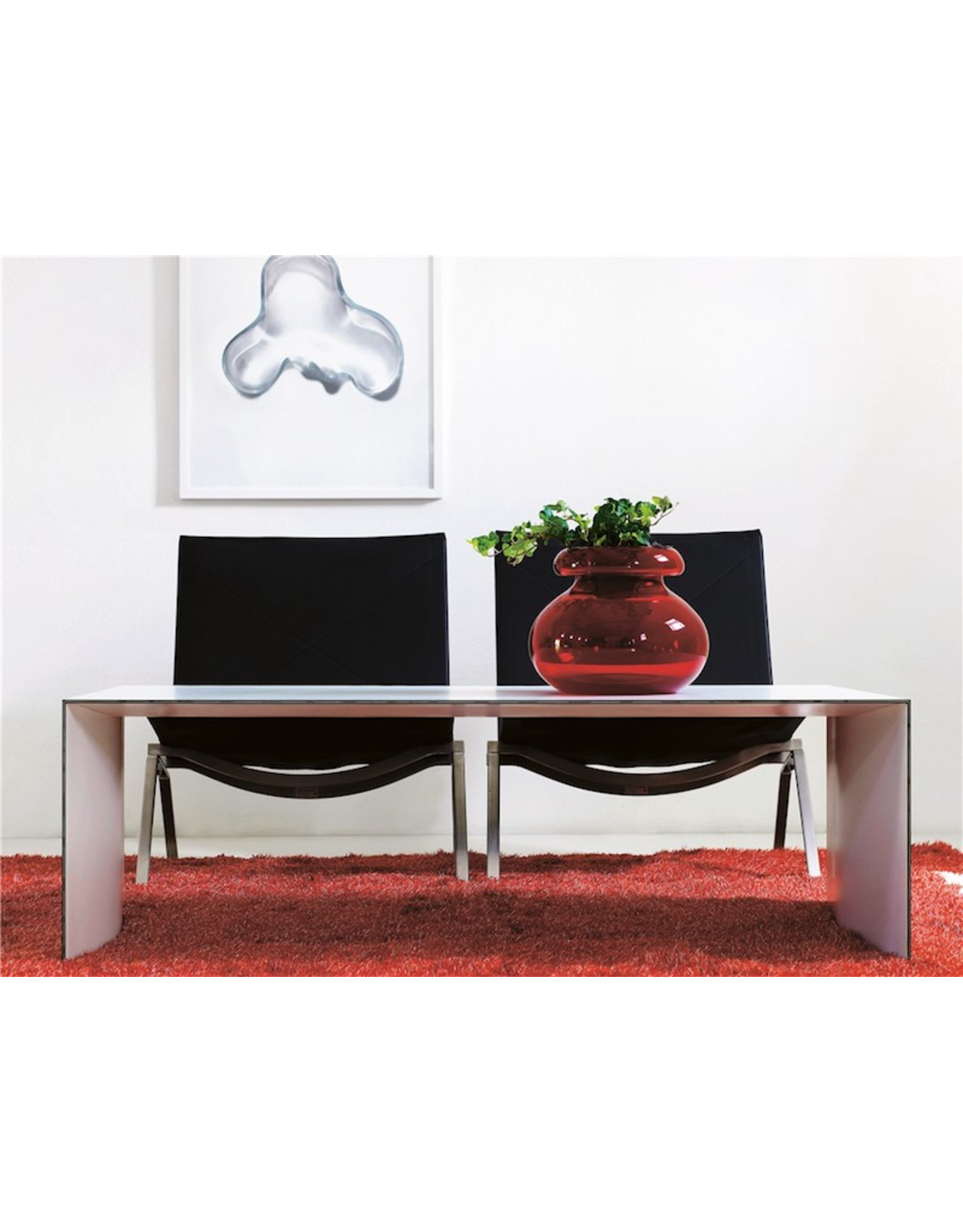 KARL ANDERSSON & SÖNER L1500 THINNER COFFEE TABLE IN WHITE LAMINATE