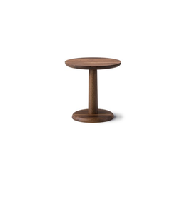 FREDERICIA 1290 PON 煙燻橡木圓咖啡桌