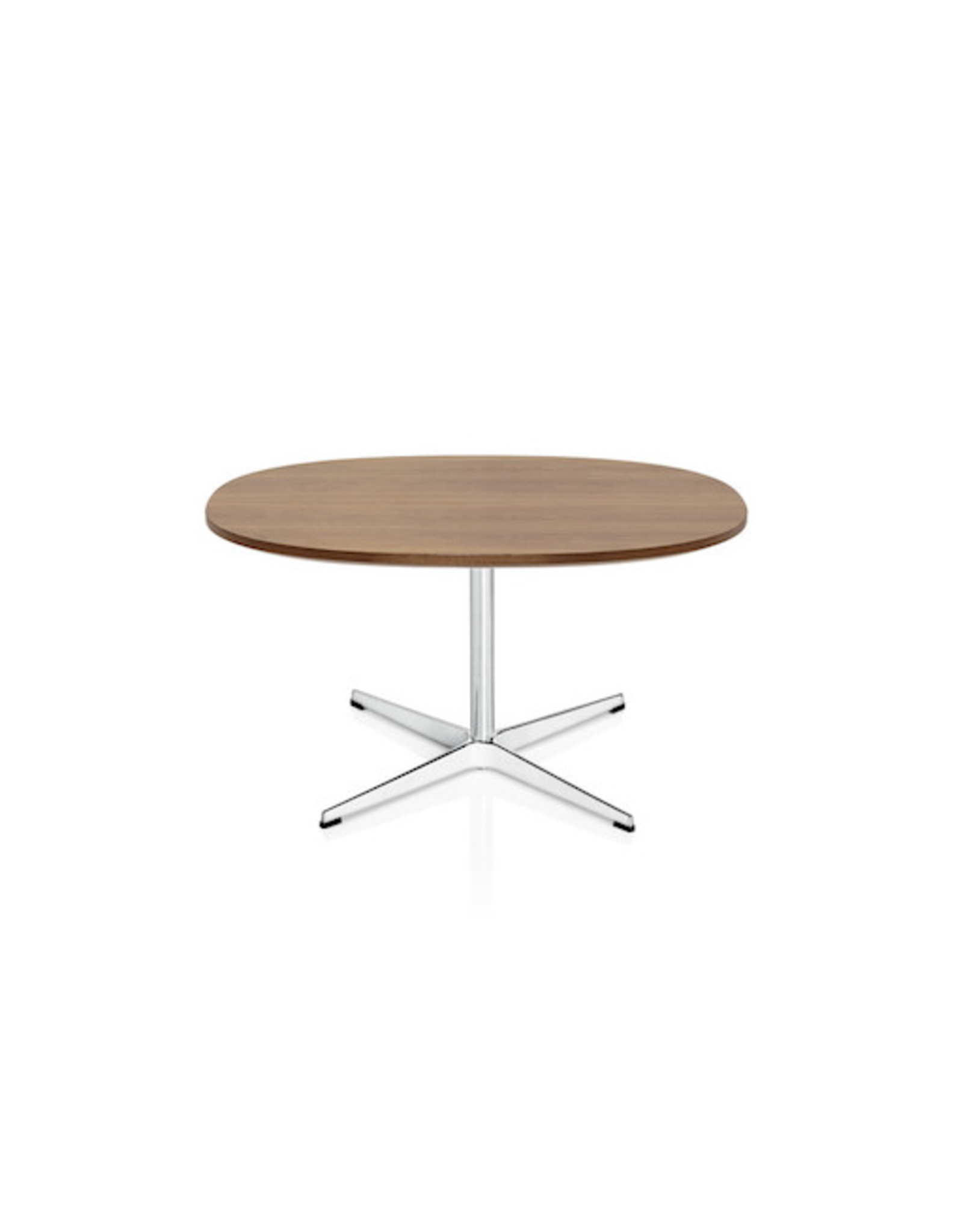 FRITZ HANSEN A203 SUPERCIRCULAR COFFEE TABLE, WALNUT TOP