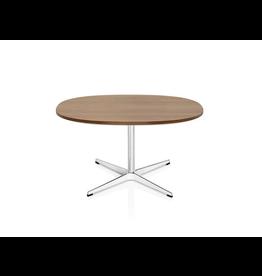 FRITZ HANSEN A203 SUPERCIRCULAR COFFEE TABLE, WALNUT TOP