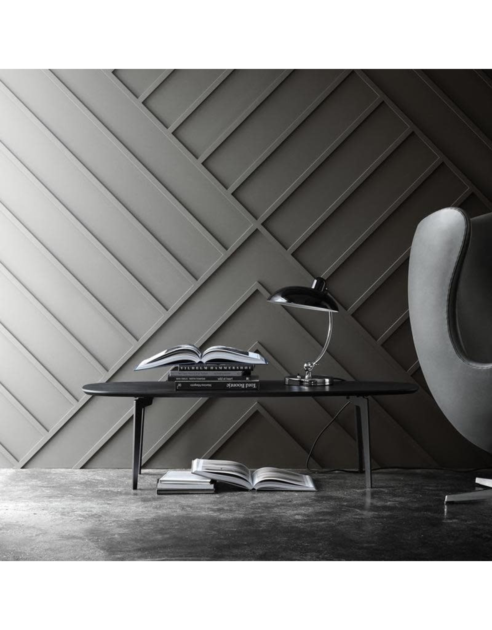FH21 JOIN COFFEE TABLE WITH BLACK LACQUER IN OVAL SHAPED