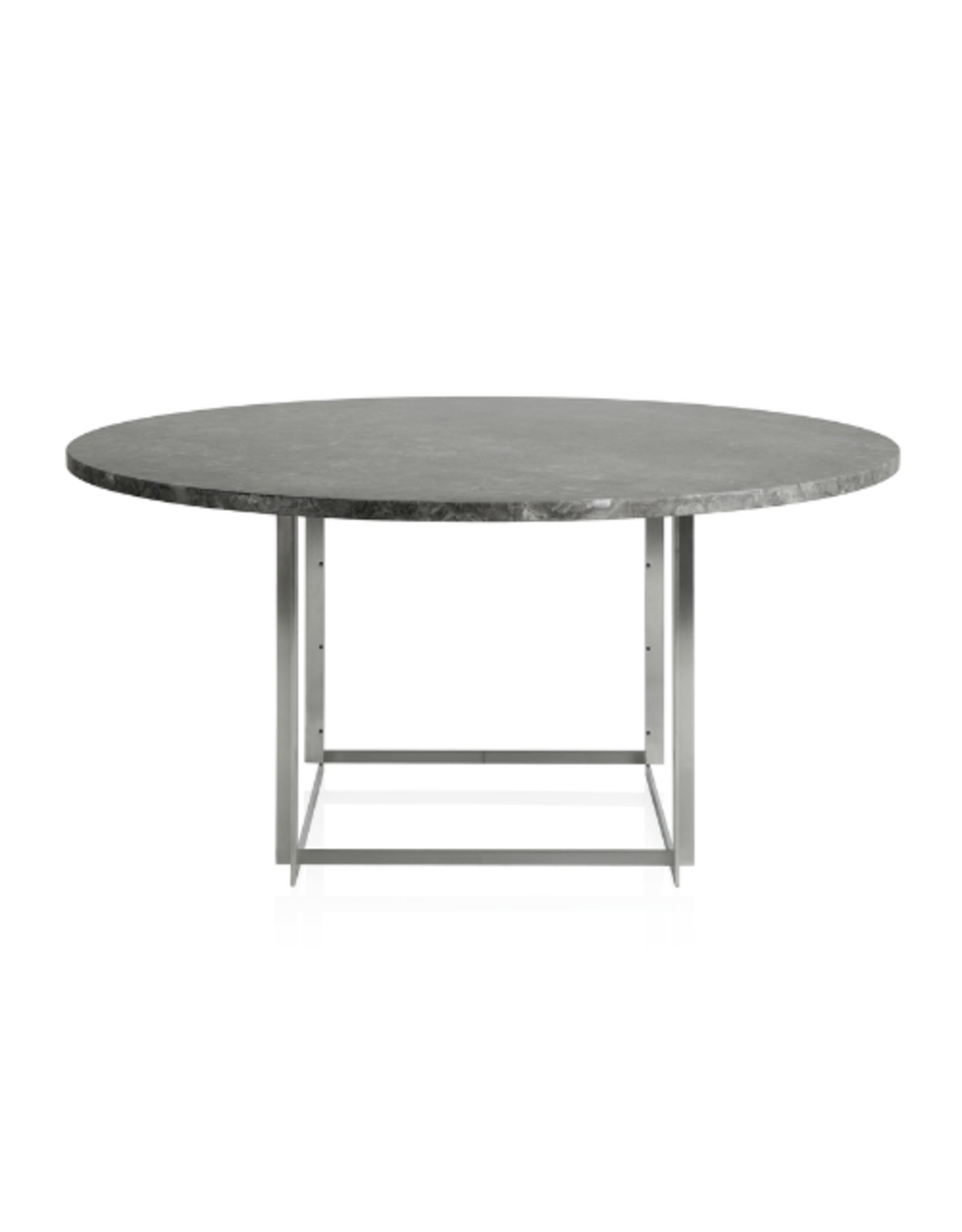 FRITZ HANSEN PK54 DINING TABLE IN GREY-BROWN (HONED) MARBLE TABLE TOP