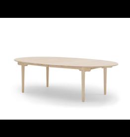 CH338 實心橡木橢圓可延伸餐桌