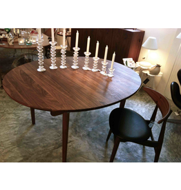CH337 實心胡桃木橢圓可延伸餐桌
