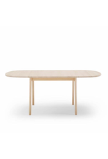 CH002 DINING TABLE W/OVAL LEAVES IN SOLID BEECH WOOD