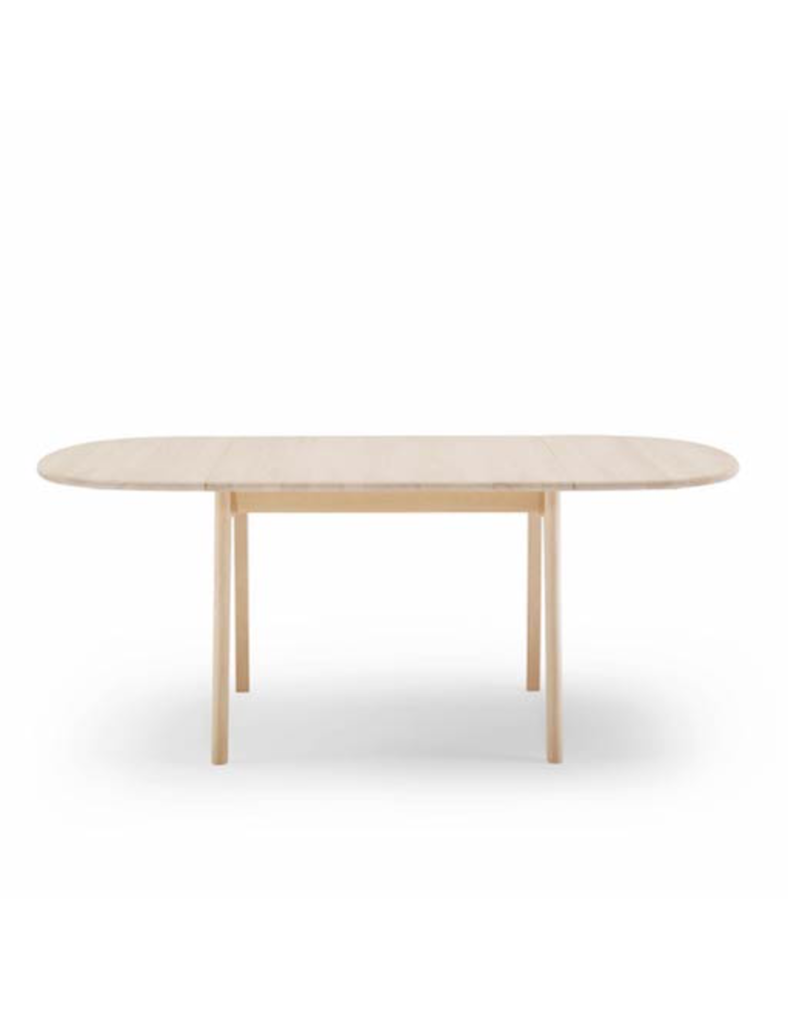 CARL HANSEN & SON CH002 DINING TABLE W/OVAL LEAVES IN SOLID BEECH WOOD