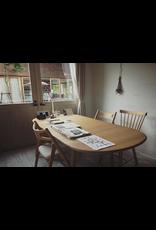 CH002 實心櫸木可延伸餐桌