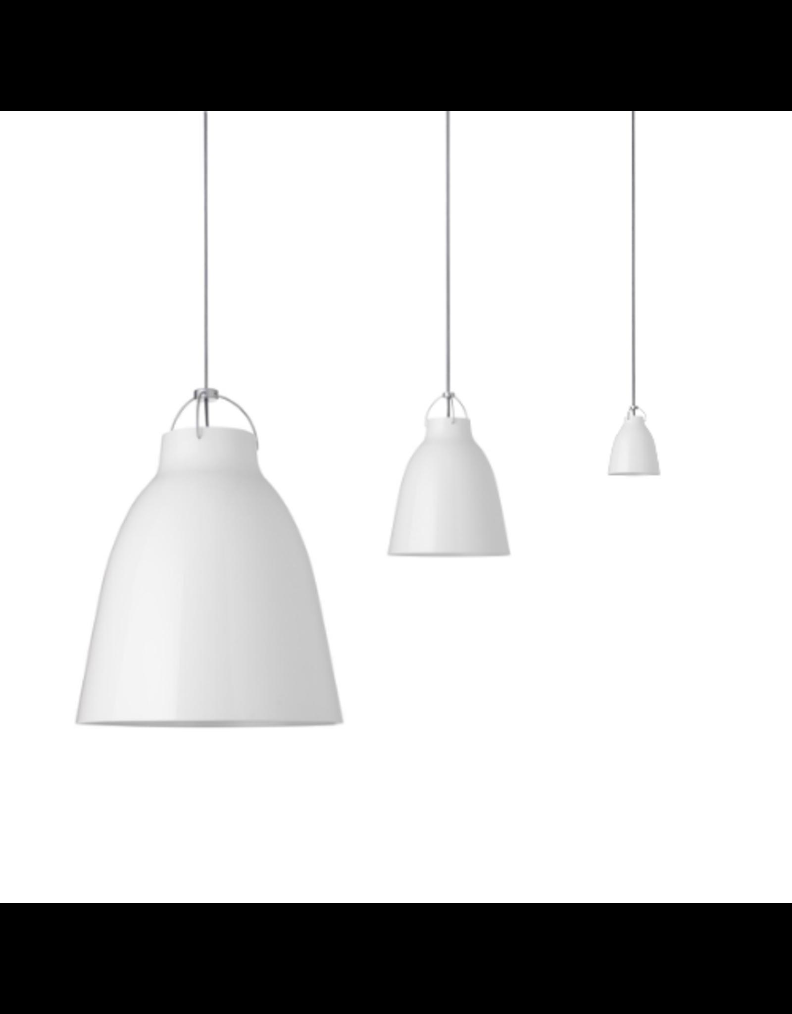 CARAVAGGIO STEEL PENDANT LIGHT IN WHITE HIGH GLOSS LACQUER